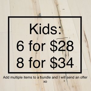 All Kids Items (excluding some footwear) - bundle!